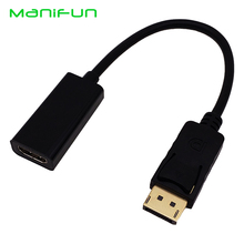DP to HDMI Adapter DisplayPort to HDMI HDTV Cable Adapter Converter Male to Female Support 1080P for HDTV Projector Displays