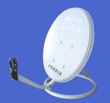 free shipping 35CM KU band satellite antenna/offset satellite dish 35CM/ steel panel/ ground wall mount KU-35-I