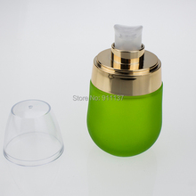 100pcs glass containers for cosmetics , green 30ml glass cream bottles , green glass bottles suppliers