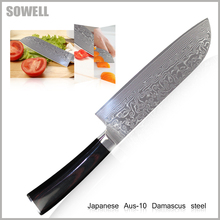 XYJ Brand Sharp Damascus Knives 7inch Santoku Knife Aus-10 Damascus Steel Kitchen Knives Best Kitchen Accessories Cooking Knvies(China)