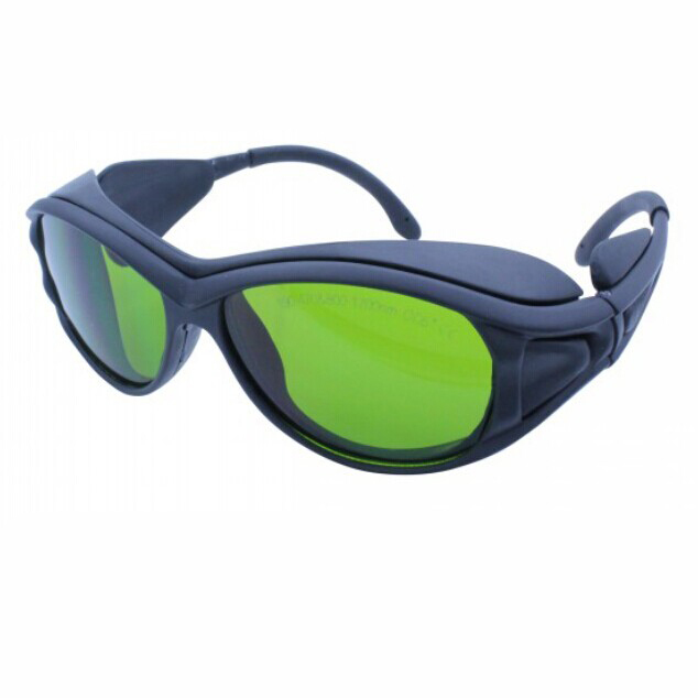 laser protection glasses for 190-470nm&amp;800-1700nm 266nm,405-450nm 808 980 1064 to 1610nm O.D 5+ CE<br>