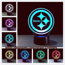 HOT American Rugby team 3D LED USB Lamp 7 Colors Changing Mood Night Light Football fans Desk Decoration