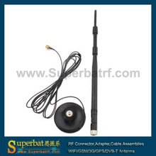 Superbat 2.4GHz 9dBi 2400-2500MHz Omni WIFI Antenna Aerial Booster with 50 Ohm 3M Extended Cable RP-SMA Male Customizable NEW