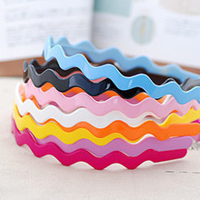 New 9 Color Korean Girl Head Bands Hoop Candy Headbands Wavy Plastic Headwear Hairbands Hair Accessories For Women Freeshipping