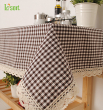 The Korean Style Table Cloth on Behalf of a Thick Plaid Cloth Pastoral Tablecloth Table Cloth Factory Direct Sales(China)