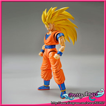 Original Bandai Tamashii Nations Figure-rise Standard Assembly Dragon Ball Z Toy Figure - Super Saiyan 3 Son Goku Plastic Model