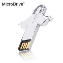Microdrive USB Flash Drive 8GB 16GB 32GB 64GB Metal Jesus Cross Memory Stick Pendrive usb flash pen drive stick USB 2.0 U Disk