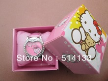 Hello Kitty watches girl KT cat love child watches  in box   free shipping1pcs/lot