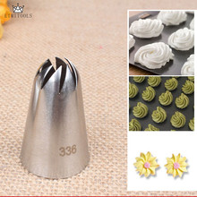 LIMITOOLS #336 Large Size Icing Piping Nozzles Steel Cake Cream Decoration Head Bakery Pastry Tips Baking Tools(China)