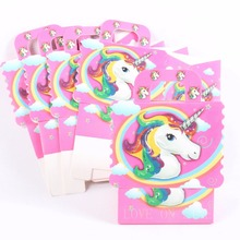 12pcs/lot Candy Box Wedding Gift Bag paper Unicorn Decorations for Wedding baby shower birthday Favors Event Party Supplies
