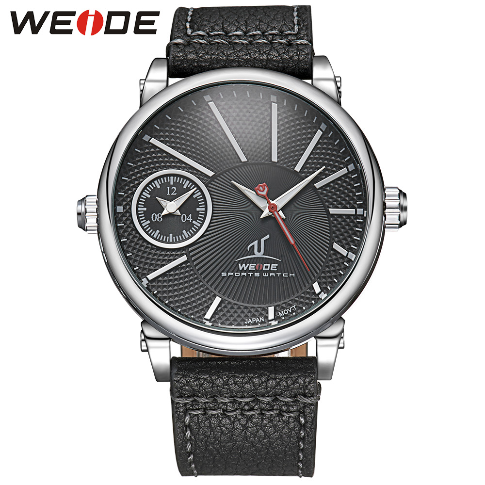 Brand WEIDE Universe Series Japan Quartz Watch Casual Multiple Time Zone Men Watches 3ATM Water Resistant Leather Strap Watch<br>
