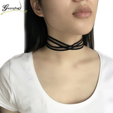 Multilayer Black Lace Chokers Necklaces Collares For Women Fashion Jewelry Harajuku Collier Punk Clavicle Necklace Bijoux Gifts