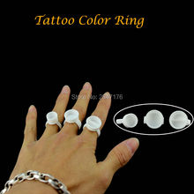 Cheapest  500pcs/bag plastic permanent makeup tattoo ring ink cups had separator or not, S.M.L size free shipping