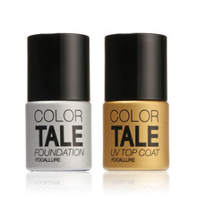 Focallure Color Tale Top Coat UV LED Nail Gel Polish 12ML UV Gel Polish Soak off Long Lasting Gel Lacquer Base Coat