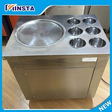 commercial 110v / 220v  usa plug fried ice machine  thailand ice roll machie fry ice cream machine for sale