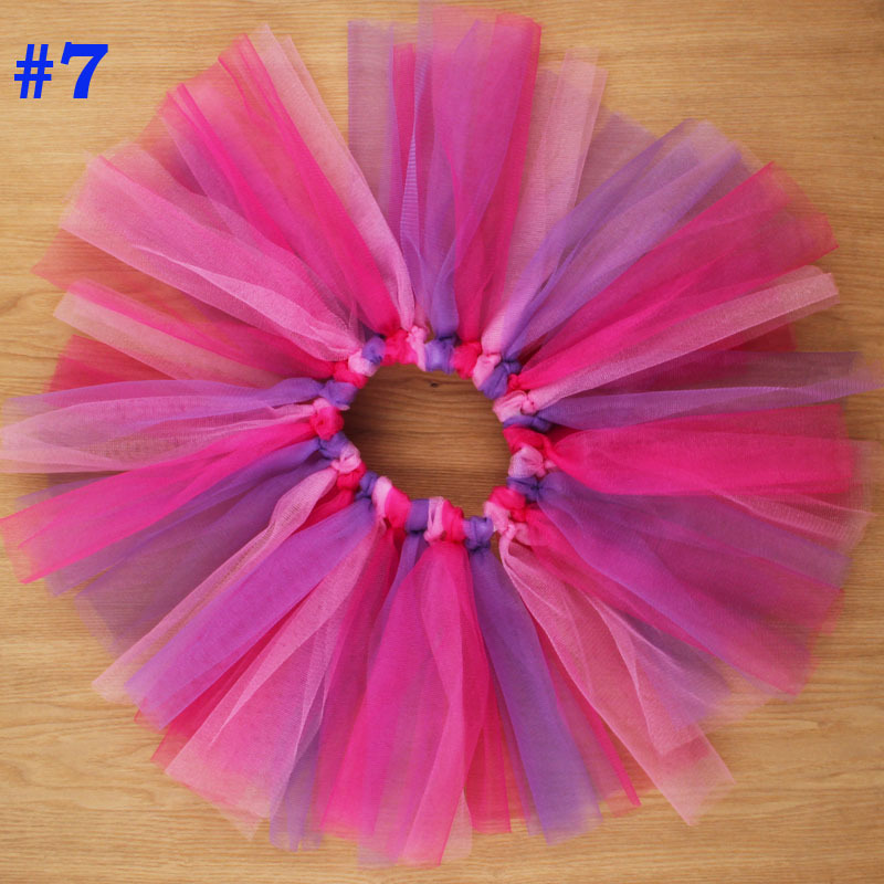 Rainbow Tutu Skirt With Headband Newborn Baby Birthday Couture