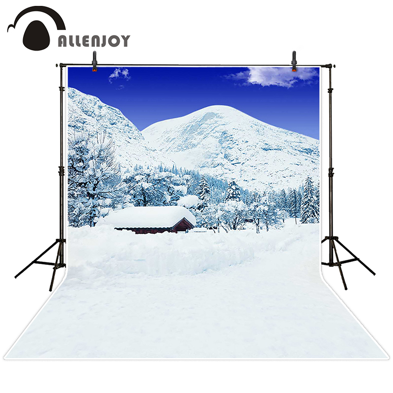 Allenjoy photographic background Housing sky snow-capped mountains backdrops children wedding Excluding bracket photocall 200cm<br><br>Aliexpress