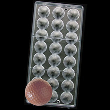 3 D DIY Hard Plastic Golf Ball sports Polycarbonate Chocolate PC Mould Mold(China)