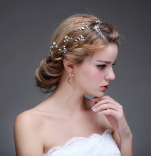 Real Image Fashion Bridal Accessories Cheap Modest Pearls Beads Fashion Hot Sale Free Shipping In Stock New Vintage Fascinator