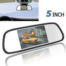 480 x 272 5 Inch Color TFT LCD Car Mirror Monitor Wide View Angle Car Rearview Mirror Monitor Car Rear View Reverse Monitor