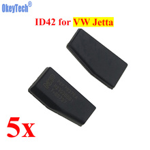 OkeyTech 5pcs/lot Car Key Chip ID42 Chip for VW Volkswagen Jetta Auto Transponder Chip Carbon Phillip-s Crypto ID42 Chip