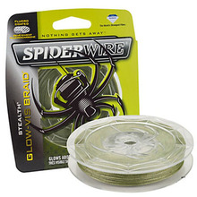 SpiderWire Brand Stealth Series 8 Strand GLOW-VIS Green Color PE Multifilament Fishing Line Braided Fishing Wire 114M 125YD(China)