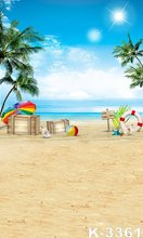 Backgrounds 5ft*7ft Computer Painted Photographic Backdrops Sand Beach Beautiful Scenery Blue Sky Bright Sunshine Photo Fundos