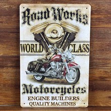 Retro Motorcycle Tin Plate Signs Movie Poster Art Cafe Bar Vintage Wall Metal Sign Plaques Painting Placas Decorativas De Metal