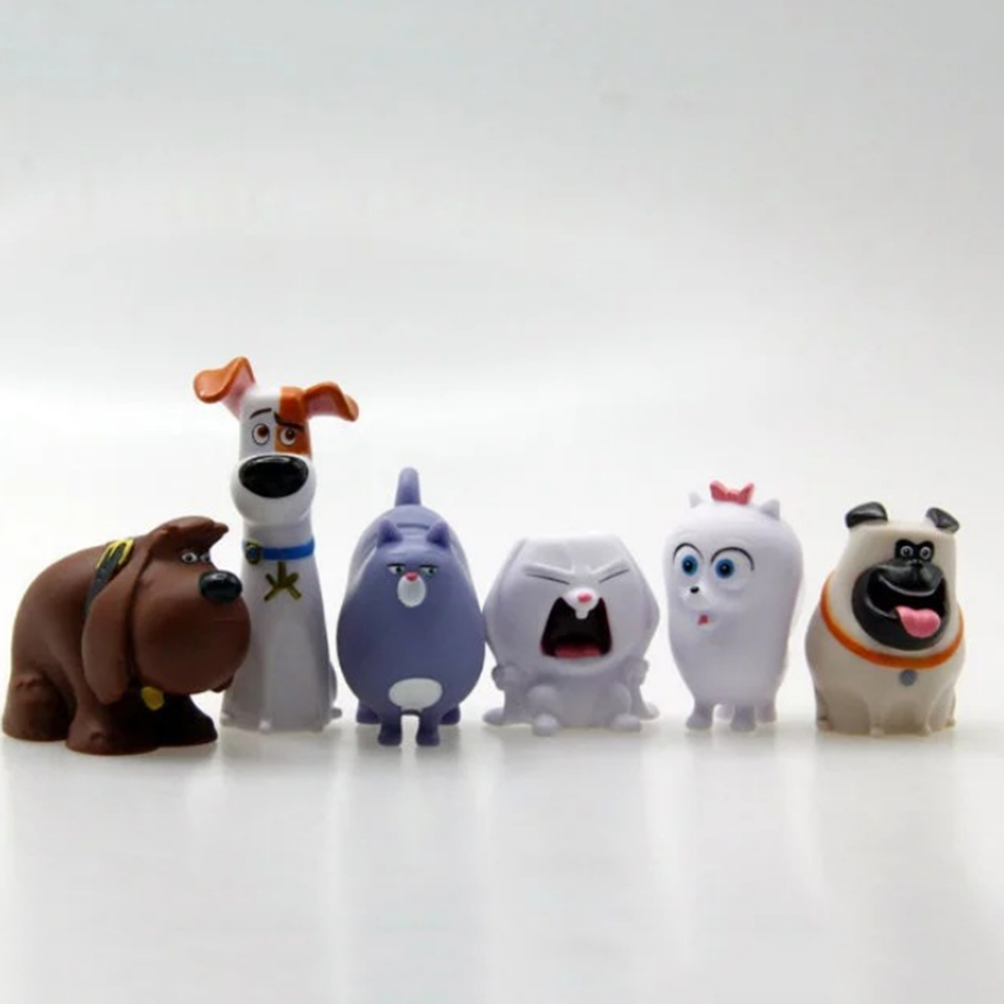 6Pcs The Secret Life of Pets Anime Action Figure Set Model Toy Key Ring Pendent Doll Toy<br><br>Aliexpress
