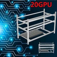 Buy Stackable Open Air Mining Rig Frame Miner Case 20 GPU ETC BTH 3 Power Supply New Computer Mining Case Frame Server Chassis for $145.99 in AliExpress store