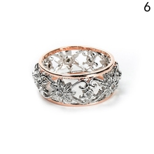 Buy Silver Color Crystal Hollow Flower Wedding Rings Women Jewelry Bague Bijoux Rose Gold Color Femme Engagement Ring for $1.73 in AliExpress store
