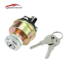 Ignition Switch with 2 Keys Universal for Car Tractor Trailer