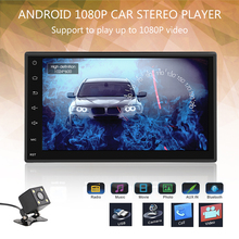 2 Din 7'' Android 5.1 Touch Screen Car Radio Player Support Multiple Languages Bluetooth GPS Navigation hands Free Rear Camera(China)
