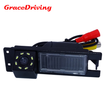 Glass lens material 170 degree hd ccd image sensor car rearview camera 8 led use for OPEL Astra H/Meriva A/Zafira B,FIAT Grande(China)
