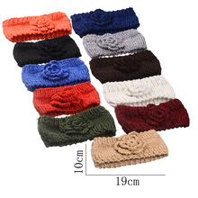 Women Knit Turban Warm Headband Headwear Wide Knitting Head Wrap Hair Accessories Autumn Winter Girls Crochet Hairband Headdress(China)
