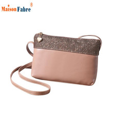 Women Ladies Graceful Diamonds Pu Leather Candy Color Shoulder Bag Handbag Satchel Purse Messenger Inter Slot Poket  Bags Nov17