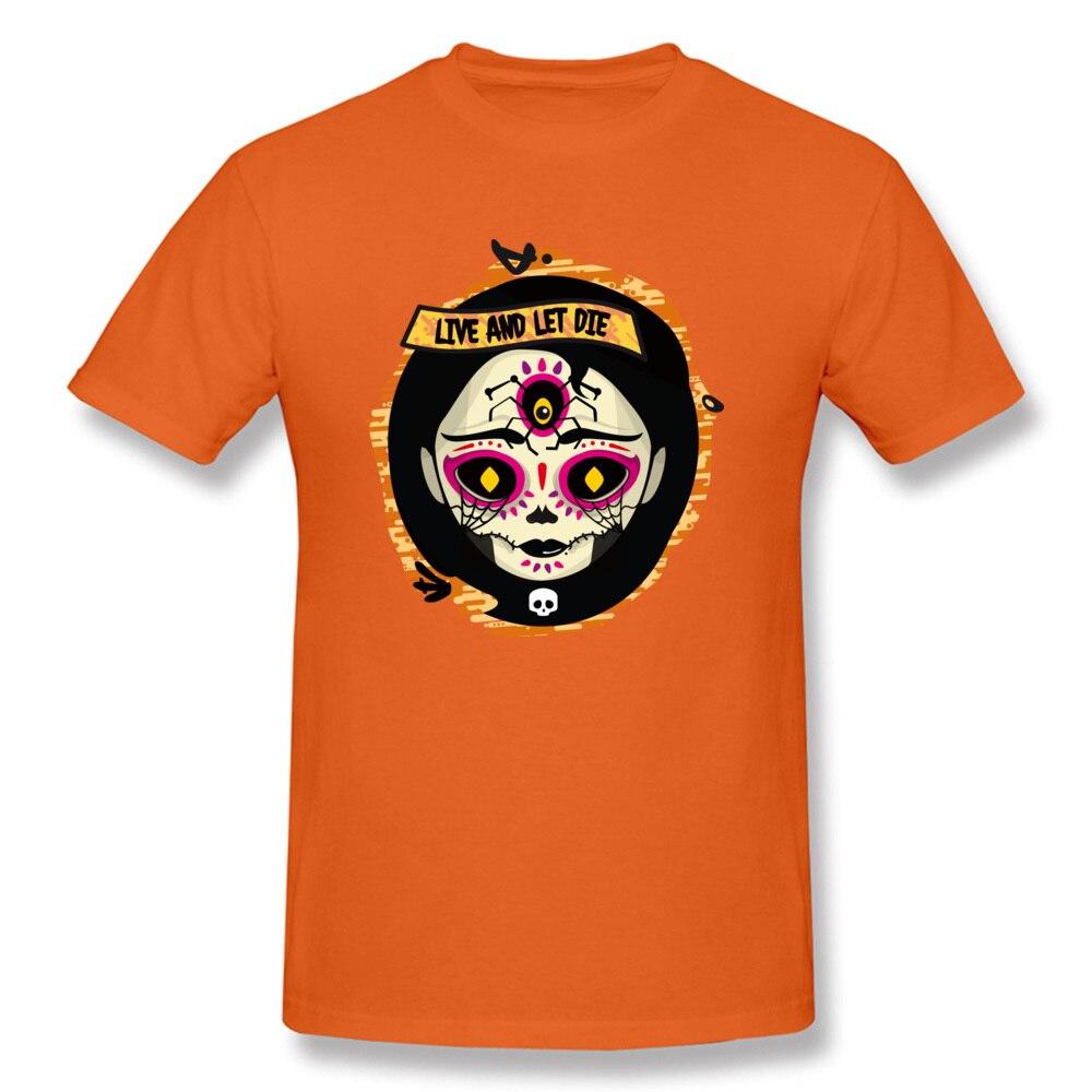 Catrina 100% Cotton T Shirt for Men Design T-shirts Group Funny Round Neck Tees Short Sleeve Drop Shipping Catrina orange