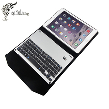 "QITULANG For apple ipad pro 9.7 "" Bluetooth Keyboard leather case Cover Protective Bluetooth Keyboard Case for ipad pro"