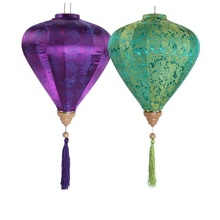 25pcs/lot 12inch/30cm Chinese Traditional Diamond Jacquard Satin Silk Lanterns New Year Mall Party Decorations ZA1572