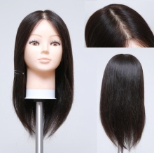 "Free delivery! 16 ""human ealistic female hair mannequin with head for training makeup practice,can be cut fine,M00609 GIFT(China)"