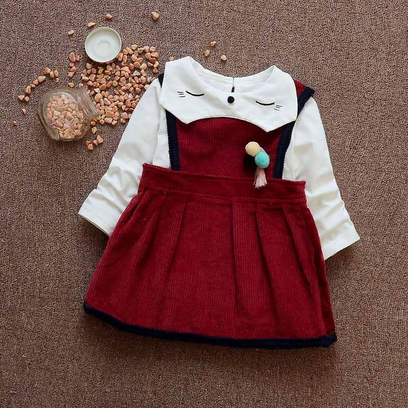 Newborn baby spring girls dress shirt suit cute baby party dress plaid 1 T birthday dress princess dresses kids clothes cotton<br><br>Aliexpress