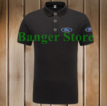 4 COLOURS Size S - 3XL Ford car logo Polo Shirt Cotton Anti-pilling Short Sleeve shirt for women and men
