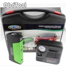 50800mAh 12V Emergency Jump Start Power Bank for Car Jump Starter Supplier Car Jump Start Laptop Starter with Pump Green LR15(China)