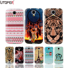 For Samsung Galaxy S4 Case Owl Tower Flag Soft TPU Silicone For Samsung S4 Case SIV I9500 Back Cover Cartoon Cell Phone Coque