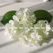 11cm 30pcs Artificial Hydrangea Flower Head Wedding Home Church Decor White Cream