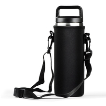 Portable Bottle Sleeve Carrying Pouch Carrier Bag with Handle For Yeti 18/36/64oz Pitcher Water Bottle Kettle Case Insulator Bag(China)