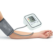 Full automatic upper arm blood pressure Monitors bp digital electronic sphygmomanometer tonometer Pulse heart rate monitor(China)