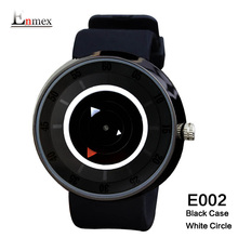 2017 men's gift Enmex neutral special design wristwatch white circle face waterproof creative simple fashion quartz watches(China)