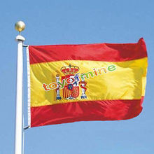 ES banner Spanish flag 3*5 ft Hanging Spain National Flag Polyester Printed 90*150cm Big Flag for world cup Free Shipping