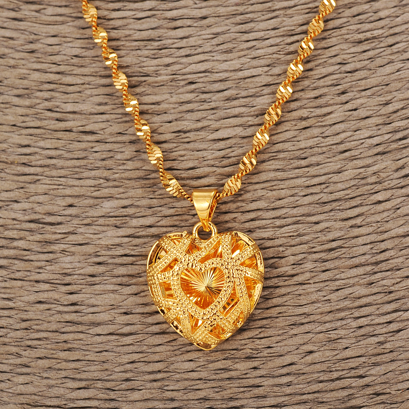 Heart-Necklacewith-Pendant-Women-Men-Lovers-s-Jewelry-Valentines-Gift-Wholesale-Gold-Color-Romantic-Fancy-DIY (2)